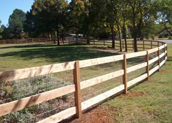 Post and Wire Stock fencing